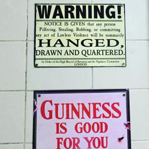 Devitts Pub Dublin - Pub wall signs